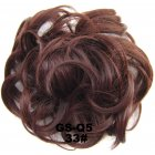 Fashion Synthetic Women Hair Pony Tail Hair Extension Bun Hairpiece Scrunchie Elastic Wedding Wave Curly  33#