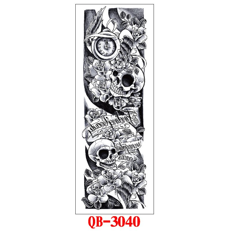 Fashion Tattoo Stickers Waterproof Long-lasting Tattoos for Men Women 170*480mm_QB-3040