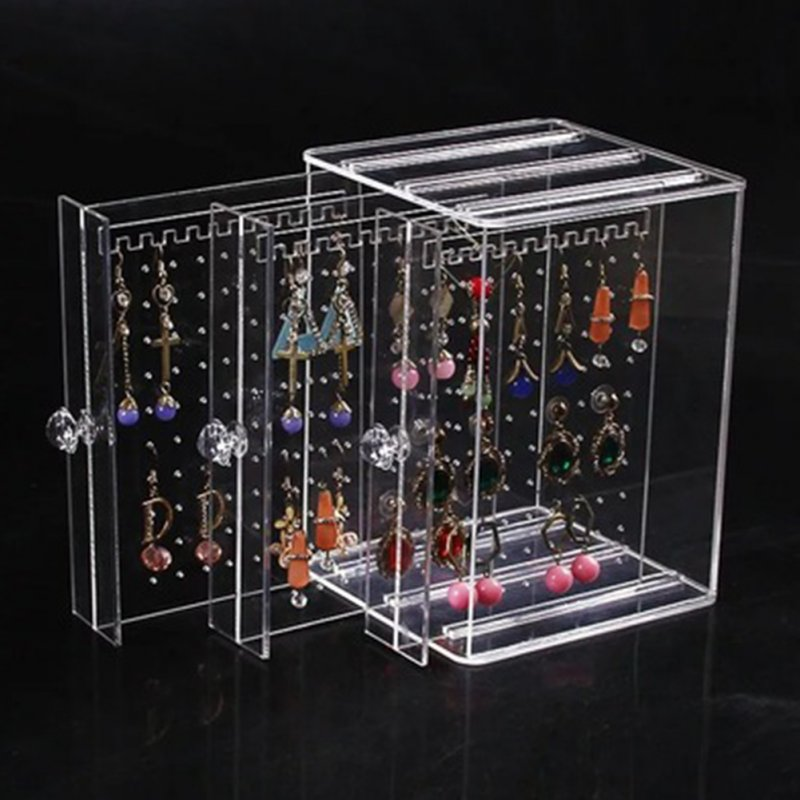 Fashion Transparent Acrylic Jewelry Display Rack Earrings Ear Stud Holder Three layers of transparency