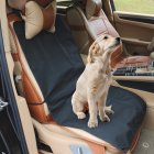 Fashion Waterproof Front Seat Cover Cushion Protector for Pet Dog black