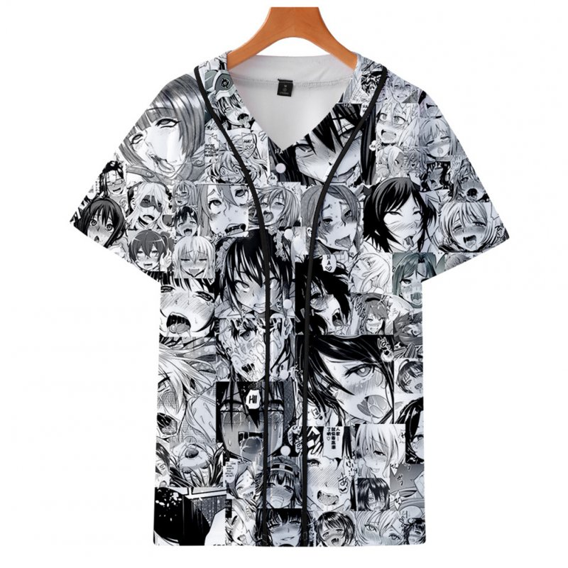 Fashion Women Men Cartoon Funny 3D Print Vivid Casual T-Shirt  Q style_S