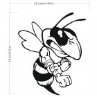 Fashionable Angry Bee Stickers Car Decals black