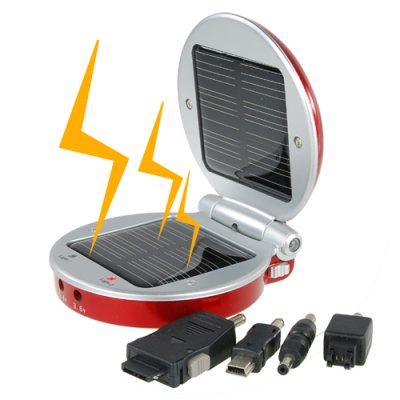 Fashionable Solar Battery Charger for Cell Phones and MP3/MP4