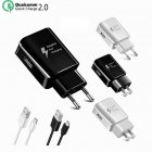 Fast Charger 1.2 m USB Type-C Cable Travel Adapter EU/US Note8 S9 S8 C5 C7 C9 Pro Devices black