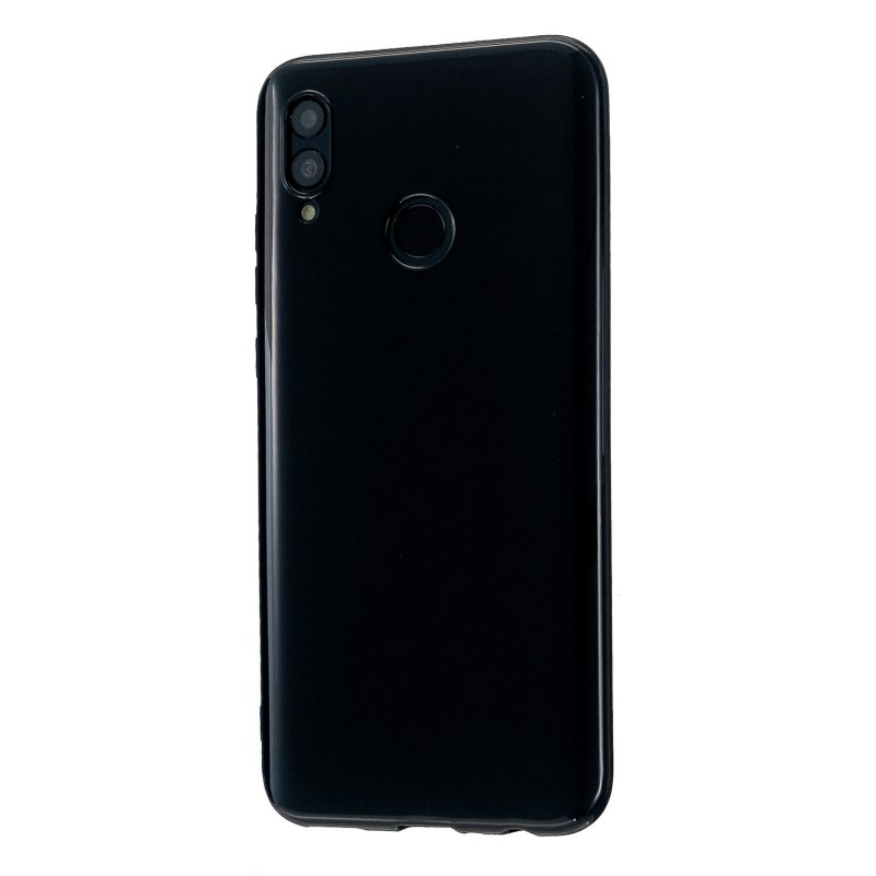 For HUAWEI Honor 10 Lite/P Smart/P Smart-Z 2019 Cellphone Shell Simple Profile Soft TPU Phone Case  Bright black