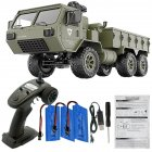 Fayee FY004A 1 16 2 4G 6WD Rc Car Proportional Control US Army Military Truck RTR Model Toys With camera 3 batteries 1 16