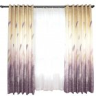 Feather Printing Window Curtains for Living Room Shade Bedroom Balcony Decoration Coffee color_1 * 2.5m high punch