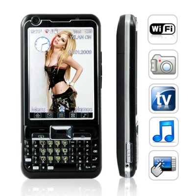 Cloud 9 Quadband 3 Inch Touchscreen Dual SIM WiFi Mobile - Black