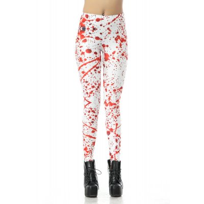 Female Halloween Elements Printing Long Trousers Slim Cosplaying Costume  KDK1229_S