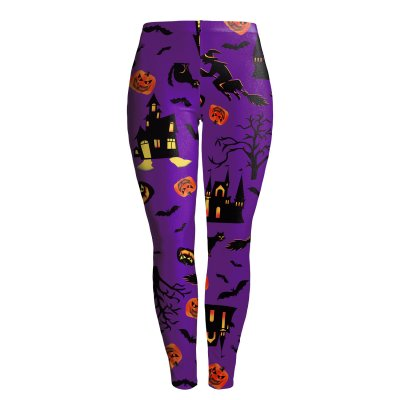 Female Halloween Elements Printing Long Trousers Slim Cosplaying Costume  WKDK1017_S