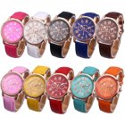 Female Leather Belt Casual Fashion Watches Three Six-Pin Quartz Watches 10 Pcs (Mixed Color)