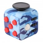 Fidget Cube Toy Relieve Stress  Anxiety and Boredom for Children and Adults Camouflage Blue