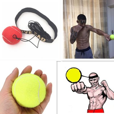 Fight Elastic Ball with Head Band for Reaction Speed Training Boxing Punch  Exercise Red