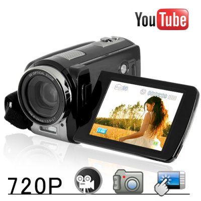 Youtube Direct 720P Touchscreen HD Camcorder