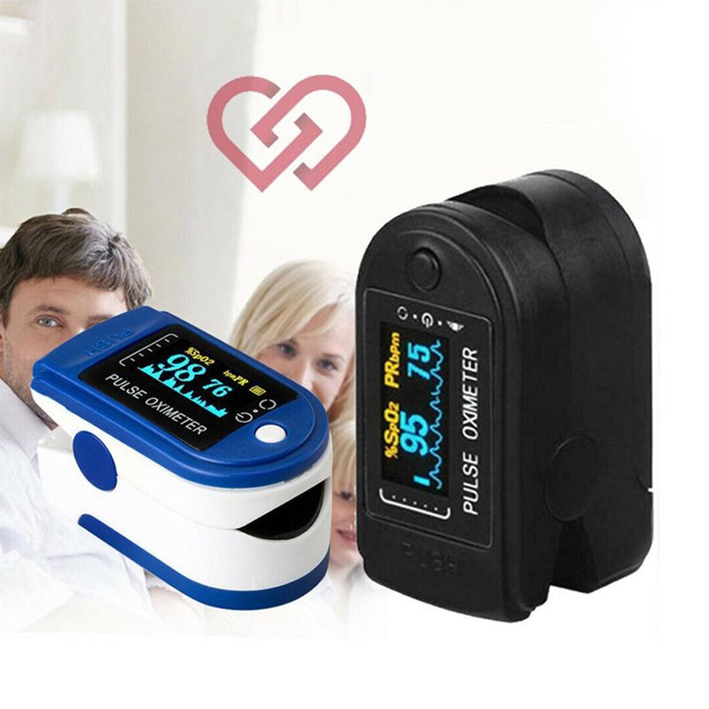 Finger Oximeter Blood Oxygen Monitor  Color OLEDDisplay Finger-clip Pulse Oximeter Portable Fingertip Pulse Oximeter blue