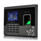 Fingerprint time attendance system with 2 8 Inch LCD Screen  USB flash drive download for software free use and can store up to 1000 different fingerprints