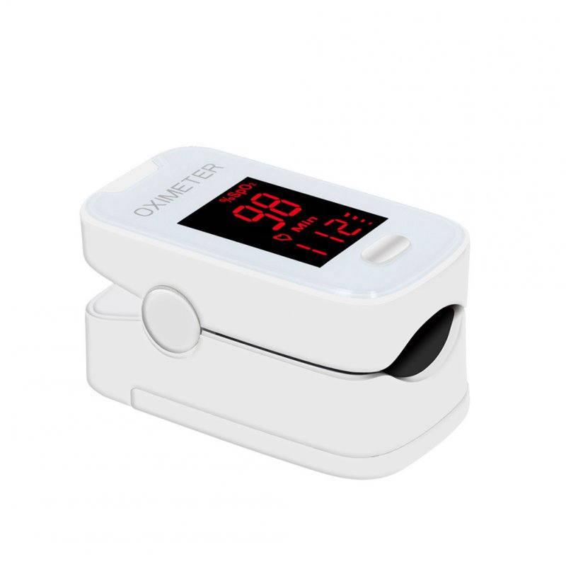 Fingertip Pulse Oximeter LED Blood Oxygen Meter Portable SPO2 PI PR Heartbeat Monitor white
