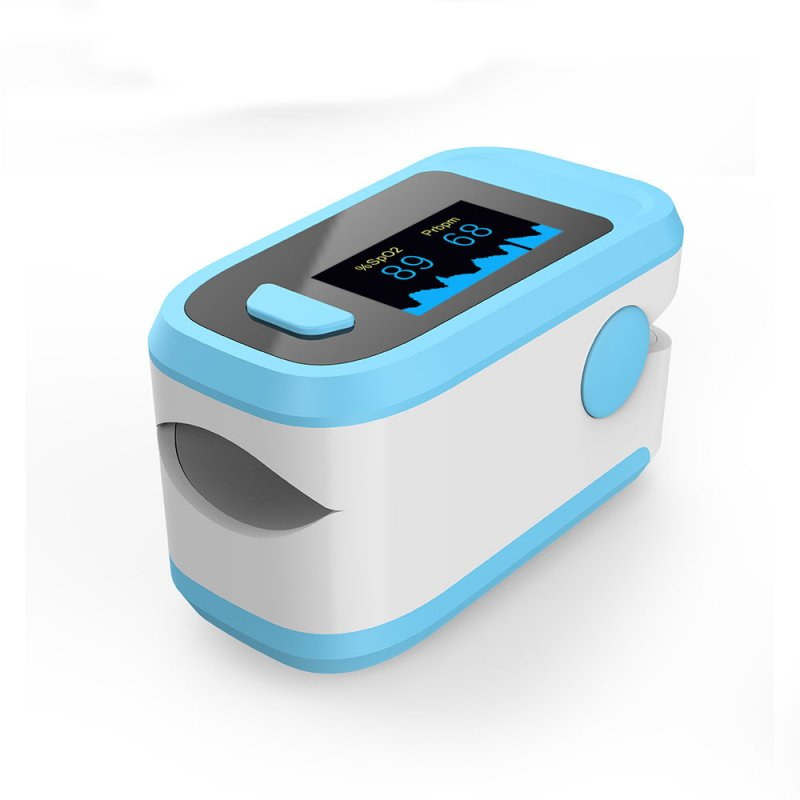 Fingertip Pulse Oximeter Blood Oxygen Saturation Monitor blue