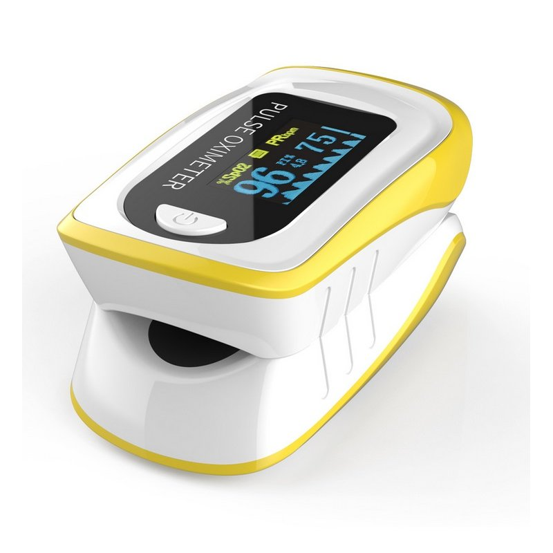 Fingertip Pulse Oximetry Detector Finger Clip Type Oximeter Hand Held FDA Finger Clip yellow