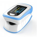 Fingertip Pulse Oximetry Detector Finger Clip Type Oximeter Hand Held FDA Finger Clip Navy blue