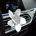Car Perfume Outlet Air Freshener Petals Aromatherapy Car-styling Interior Car Air Vent Car Accessories white