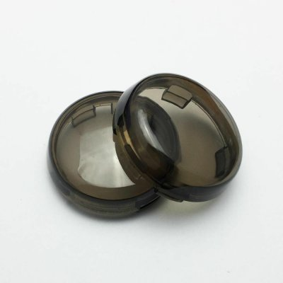 2pcs Motorcycle Turn Signals Light Lens Cover For Touring Road King Sportster 883 1200 Iron XL Softail Heritage Smoky gray