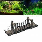 Fish Tank Landscaping Decoration Bridge Aquarium Fish Shrimp Turtle Rest Platform Rope Bridge large