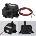Fish Tank Water Pump Aquarium Water Submersible Oxygen Pump for DC12V 3M 240L/H Supplies black