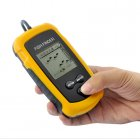 Fish finder locator with sonar sensor for you to see exactly on an LCD screen if there are any fish in the area