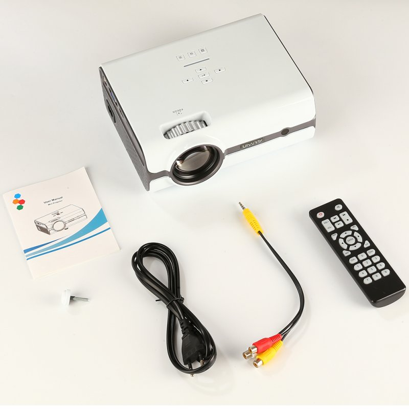 U45 Mini Projector Watching Movie Portable Home Theater Entertainment Supports 1080P HD Display white_U.S. regulations