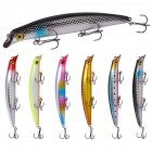Fishing Lure 12.5cm 14g ABS Floating Fishing Bait With Hook Fresh Water Sea Fishing Bait 6PCS color mixing