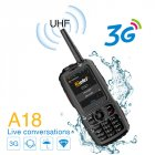 A18 3G Software APP Hardware Walkie Talkie Mobile Phone Android 4.2.2 Dual-Core Touch Screen Waterproof EU Plug black_EU Plug