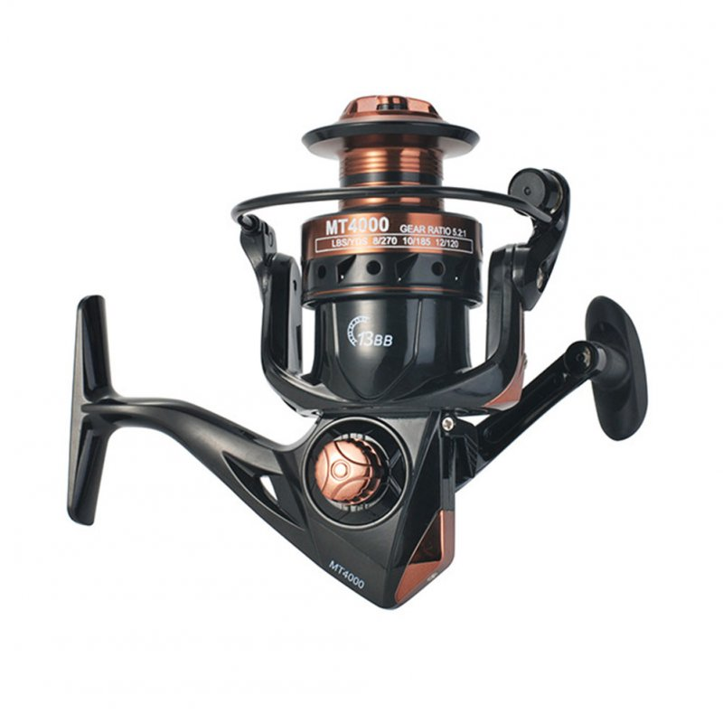 Fishing Reel 5.2:1 4.7:1 High Speed 13BB full Metal Spool Spinning Reel Saltwater Reel carp Fishing Reel MT1000