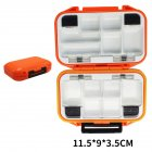 Fishing Storage Box Waterproof Fishing Lure Gear Accessories Small orange