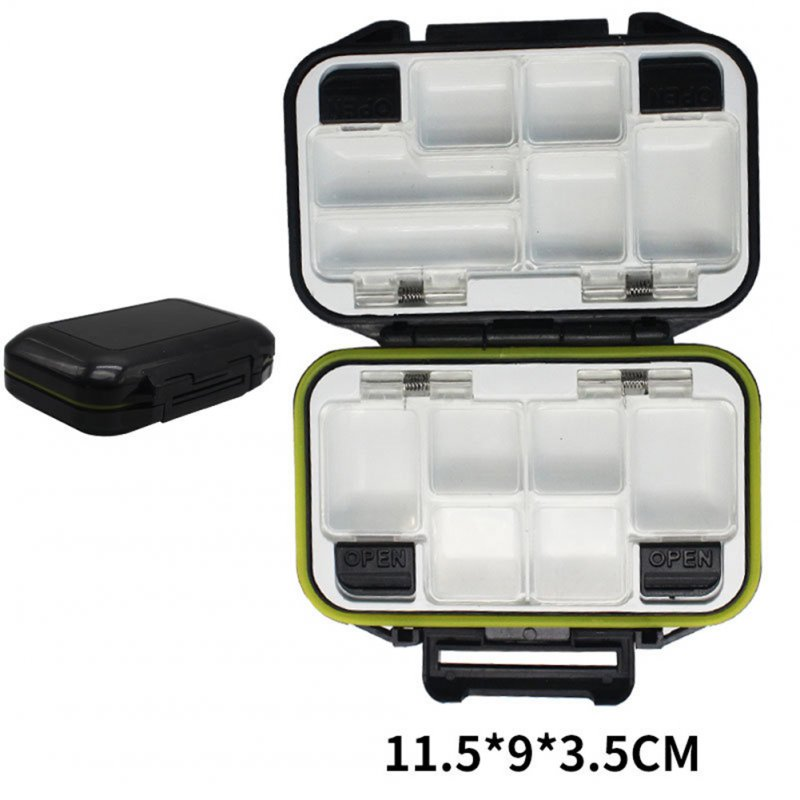 Fishing Storage Box Waterproof Fishing Lure Gear Accessories Small black