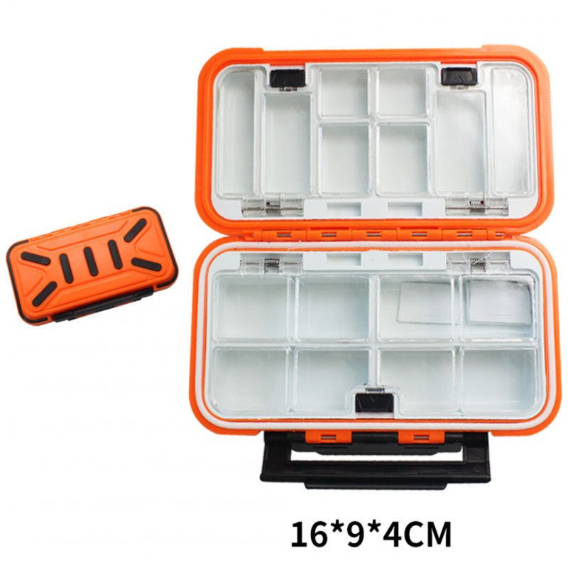 Fishing Storage Box Waterproof Fishing Lure Gear Accessories Medium orange