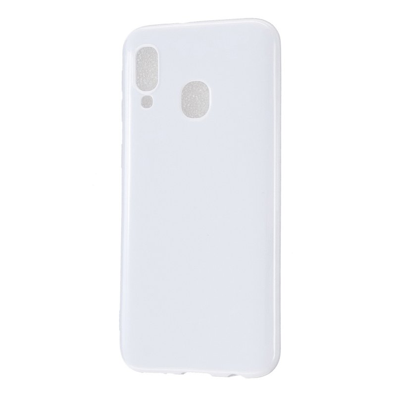 For Samsung A20E/A40/A70 Cellphone Cover Soft TPU Phone Case Simple Profile Scratch Resistant Full Body Protection Shell Milk white