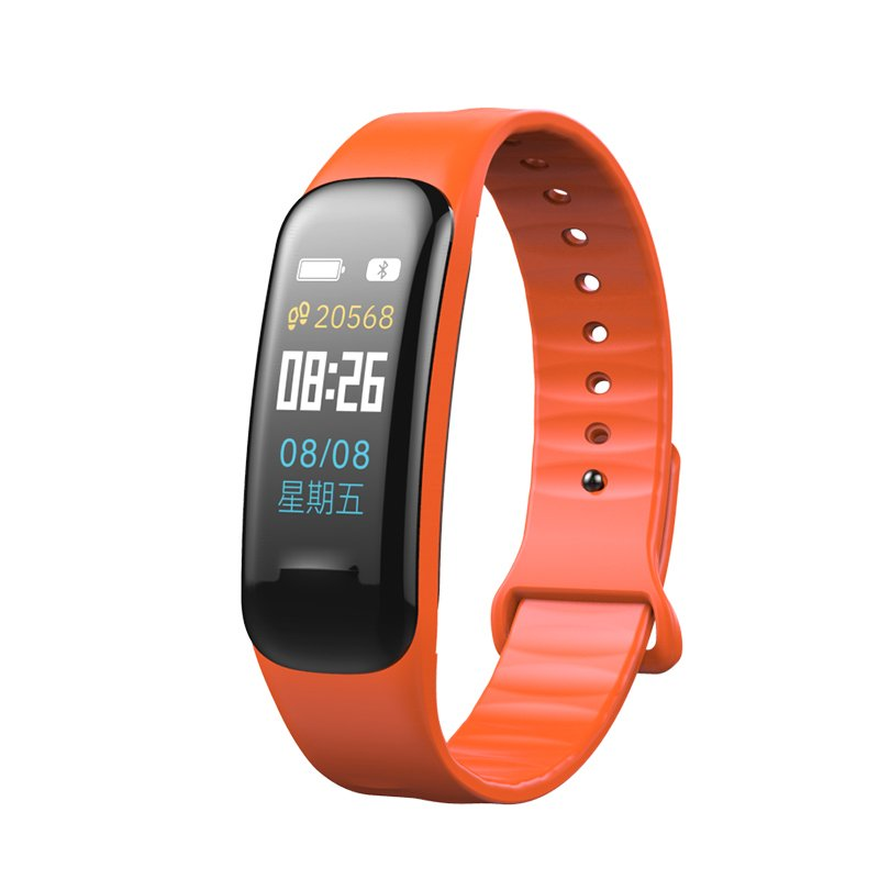 Fitness Bracelet C1S Smart Watch Waterproof Smart Bracelet Heart Rate Monitor Health Tracker bracelet Orange