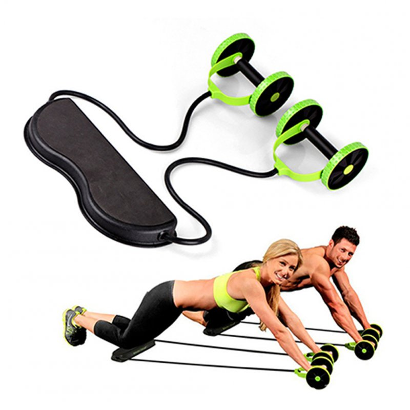 Fitness Roller Pulling Rope Abdominal Muscle Trainer Home Gym Arm Waist Leg Training Tool 1 x Fitness Roller