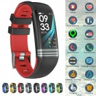 Fitness Tracker Smart Activity Watch Heart Rate for Women Men Fitbit Android iOS red
