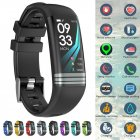 Fitness Tracker Smart Activity Watch Heart Rate for Women Men Fitbit Android iOS black