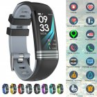 Fitness Tracker Smart Activity Watch Heart Rate for Women Men Fitbit Android iOS gray
