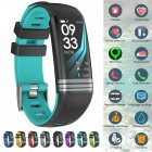 Fitness Tracker Smart Activity Watch Heart Rate for Women Men Fitbit Android iOS cyan-blue