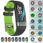 Fitness Tracker Smart Activity Watch Heart Rate for Women Men Fitbit Android iOS green