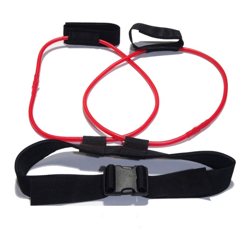 Fitness Women Booty Butt Band Resistance Bands Adjustable Waist Belt Pedal Exerciser for Glutes Muscle Workout red_20LB