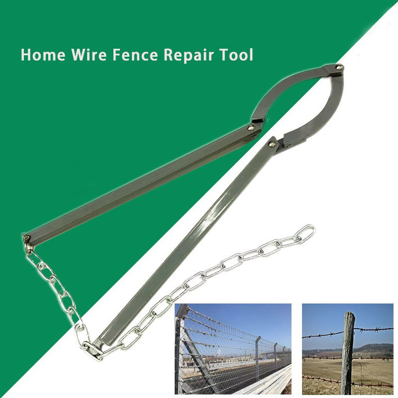 Fixing Guardrail Wire Fence Repair Tool Outdoor Chain Hand Operated Pulling for Farm Garden  gray