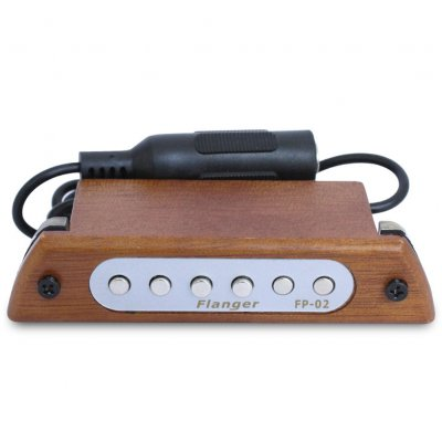 Flanger Wood Acoustic Guitar Sound Hole Pickup Magnetic Pickup for 39