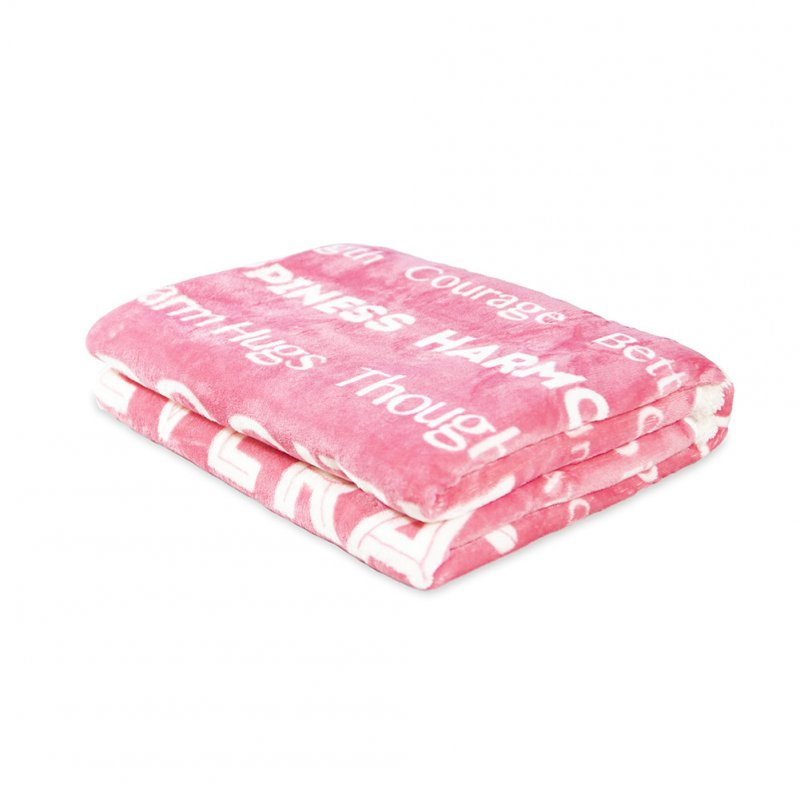 Flannel Throw Blanket Fuzzy Fluffy Cozy Soft Blanket for Couch Bed Sofa Pink