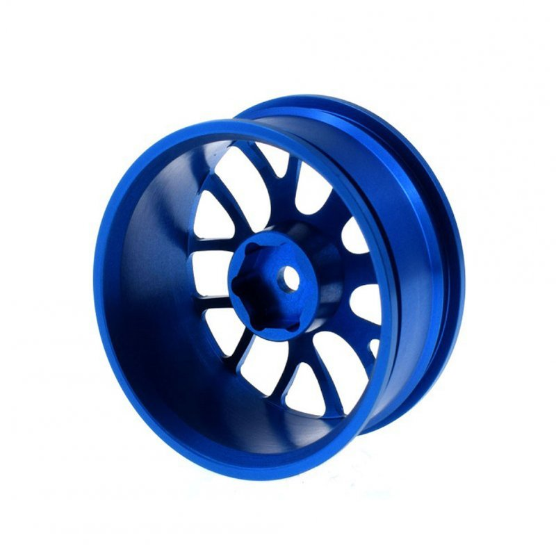 Flat Running Drift Car Wheel Hub Aluminium Alloy Metal Wheel Hub 1/10hsp 94123D4/C5/XIS TT02 Universal  blue