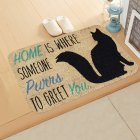 Fleece Door Mat Letter Printed Doormat Anti-slip Entrance Floor Mats for Bedroom Bathroom Carpet Rug 40*60cm